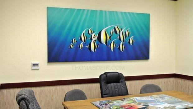 Paintings Office Walls Thomas Deir Honolulu Artist