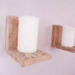 Pair Handmade Small Rustic Floating Wall Shelves Mattrivera