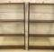 Pair Mahogany Hanging Display Bookshelves
