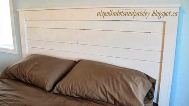 Paisley Master Bedroom Overhaul Phase Painted Wooden Headboard
