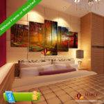 Panel Forest Painting Canvas Wall Art Home