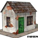 Papermau Easy Build Derelict House Paper Model