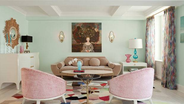 Pastel Toned Living Room Eclectic Fawn Galli