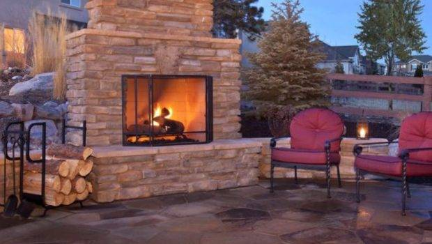 Patio Fireplace Matches Pillars Used Support Cover