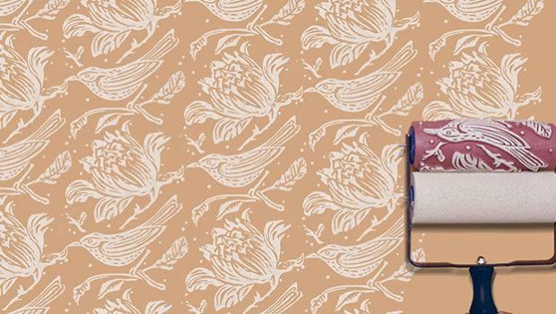 Pattern Paint Roller Birds Dream Dwellings Pinterest