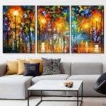 Piece Canvas Art Abstract Paintings Acrylic Wall Decor