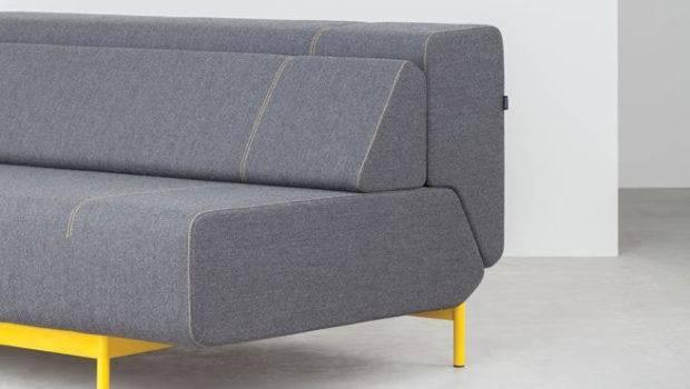 Pil Low Sofa Bed Lama Yellow Frame
