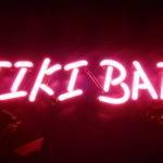 Pink Neon Light Tiki Bar Section