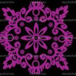 Pink Symmetrical Simple Design Vector Pas