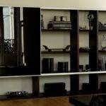 Pombol Bookcase Black Glass Door Bookcases Modern Furniture