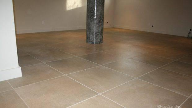 Porcelain Tile Concrete Basement Floor Tiles Flooring