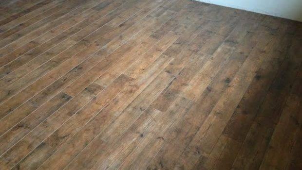 Porcelain Wood Basement Floor Transitional