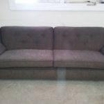 Portland Sofa Brown Corderoy Type Fabric Upholstery