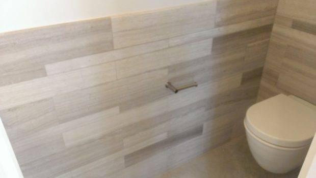 Powder Room Multi Marble Tile Wainscot