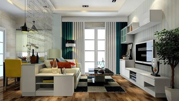 Practical Living Room White Furniture Interior Design