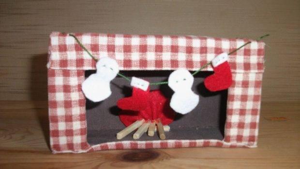 Preschool Crafts Kids Christmas Fireplace Box Craft