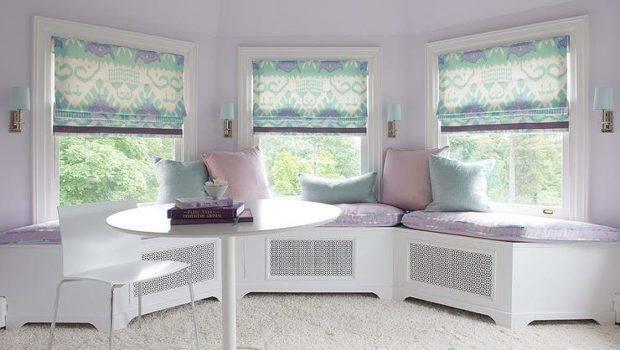 Purple Turquoise Bay Window Seat