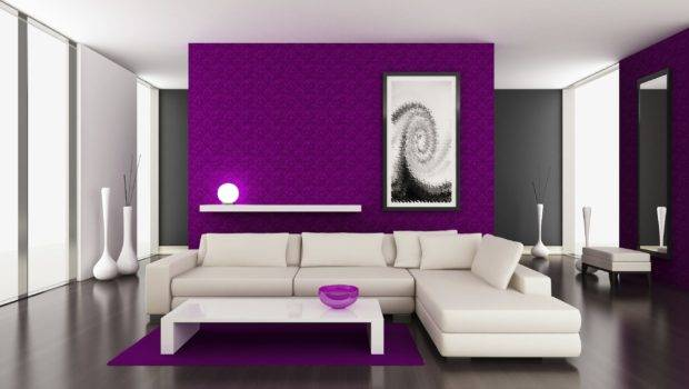 Purple Wall Paint Living Room
