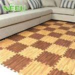Puzzle Flooring Wood Hot Pieces Lot Wooden Floor Mats