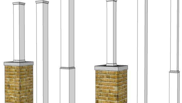 Pvc Porch Post Wraps Exterior Column Pole Covers