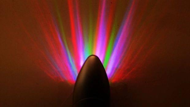 Rainbow Rays Wall Plug Led Night Light Energy Saving Color Lamp