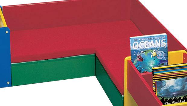 Reading Corner Shape Seating Unit Children Library Furniture