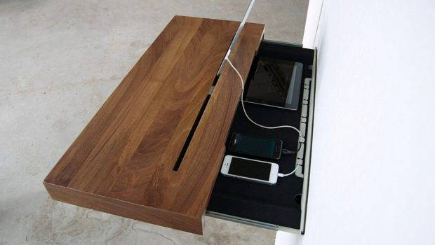 Reading Stylish Stage Offers Discreet Charging Shelf