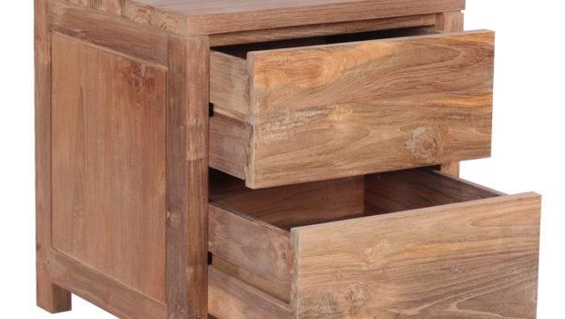 Reclaimed Wood Bed Set Including Bedside Tables