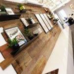 Reclaimed Wood Feature Wall Custom Branded Lightbox Interiors