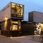 Reclamation Drive Thru Shipping Container Store Home Plans