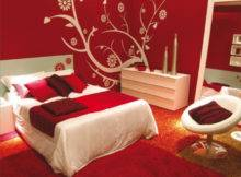 Red Black Bedroom Decorating Ideas Calm Paint