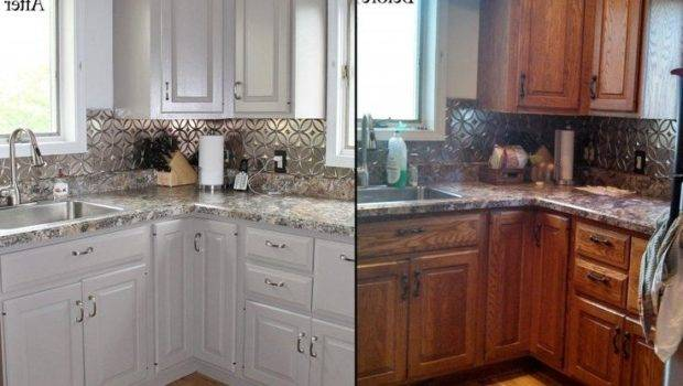 Refinishing Painted Kitchen Cabinets
