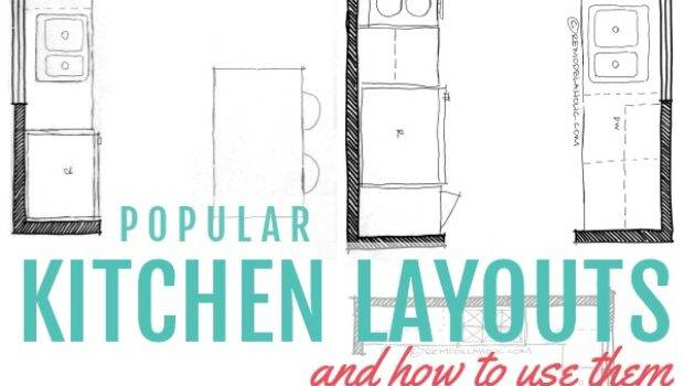 Remodelaholic Popular Kitchen Layouts Them