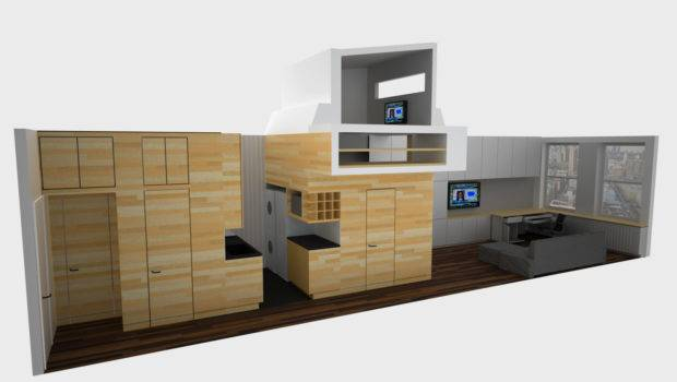 Rendering Demonstrates Realistic Plan Tiny Apartment