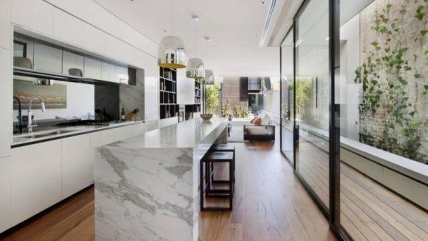 Renovation Optimizing Long Narrow Facade Nicholson Residence
