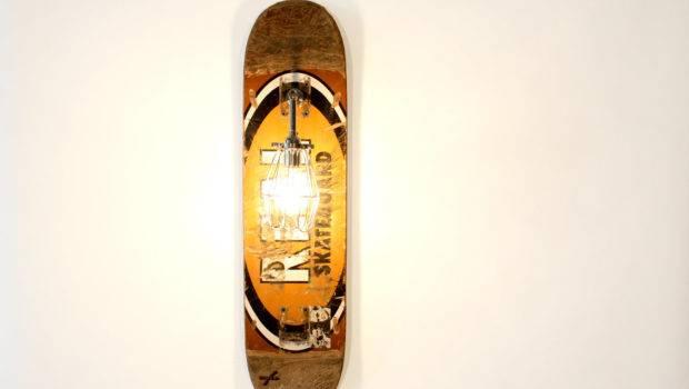 Reserved Repurposed Skateboard Sconce Lamp Wearemfeo Etsy