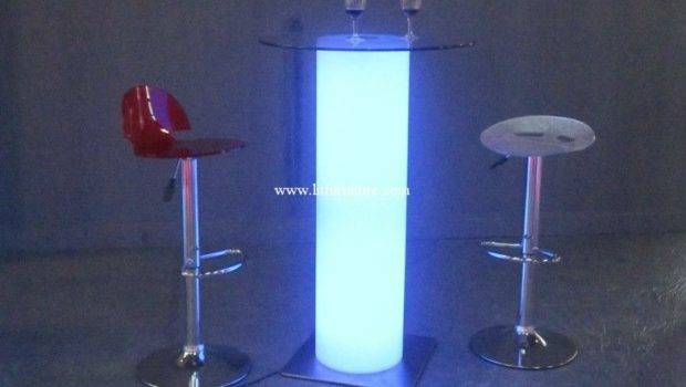 Rgb Led Light Leisure Table Glowing Furniture Lounges