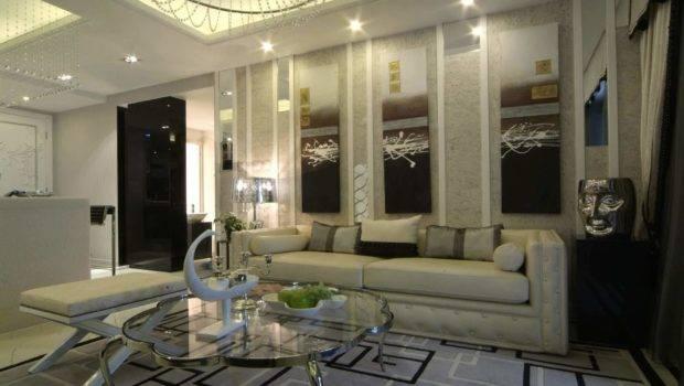 Room Design Modern Living Designs Grey Decorative