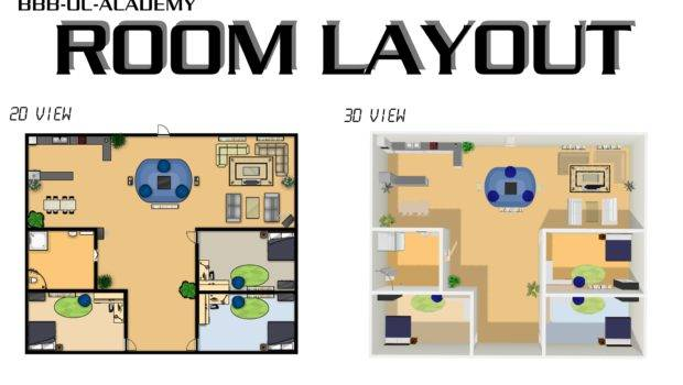 Room Layout Modern Tritmonk Drawing Architecture Tool