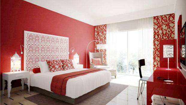 Room Paint Color White Ans Red Home Combo