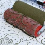 Roses Ribbons Patterned Paint Roller Sleeve
