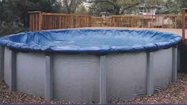 Round Cheap Aboveground Swimming Pool Solid Winter Cover Above Ground