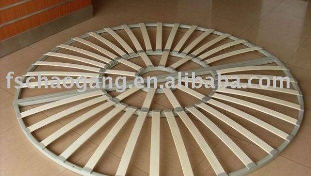 Round Wood Slat Bed Frame Buy Semicirle