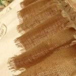 Rustic Burlap Window Cafe Curtain Hand Crochet Ruffles Cream Ebay