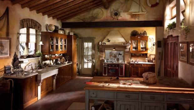 Rustic Kitchen Design Setting Onhomes