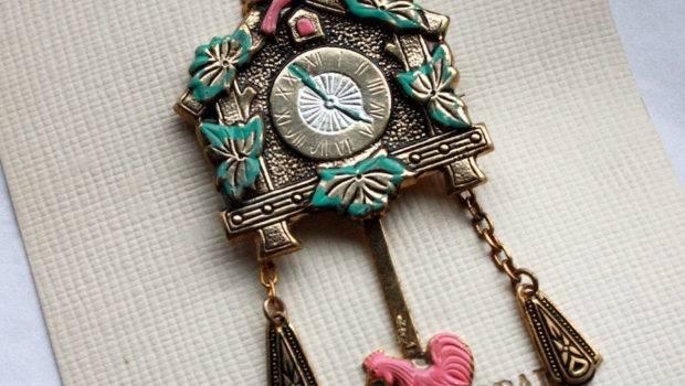 Sale Vintage Novelty Enamel Cuckoo Clock Ifoundgallery