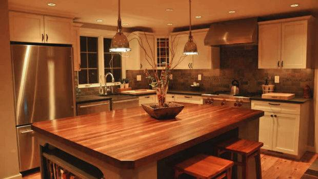 Sapele Mahogany Wood Countertop Kitchen Island Blue Bell