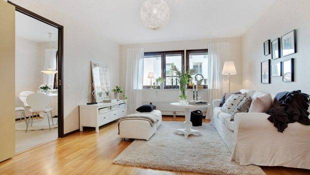 Scandinavian Interiors Pink White Swedish Apartment