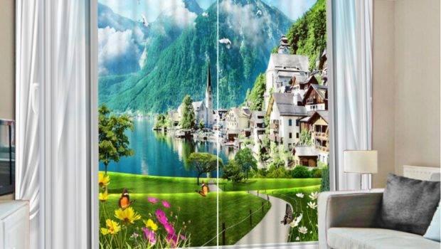 Scenery Window Curtains Curtain Menzilperde