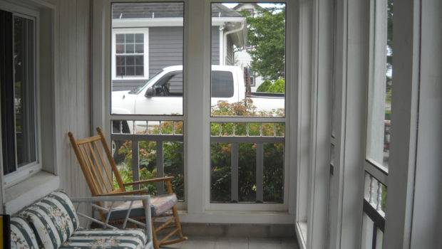 Screened Front Porch Basically Blank Slate Needs
